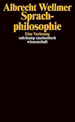 Sprachphilosophie: Eine Vorlesung (suhrkamp taschenbuch wissenschaft): Hoffmann, Thomas, Juliane