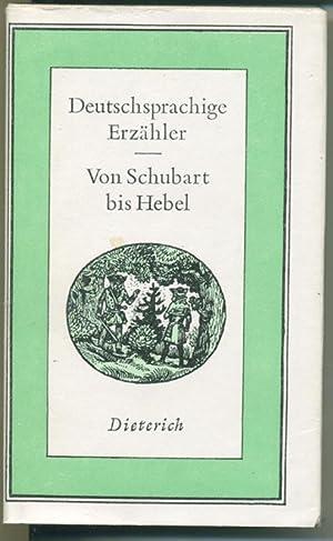 Deutschsprachige Erzähler von Schubart bis Hebbel (=: Pilling Dieter (Hrsg.)