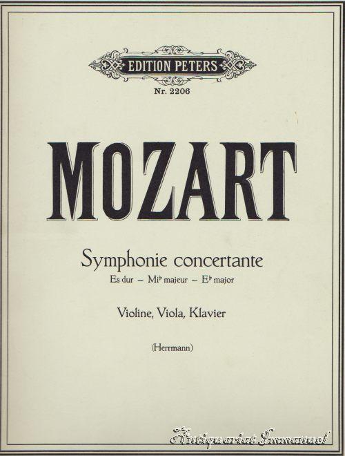 W. A. Mozart. Symphonie Concertante für Violine,: Mozart, W. A.