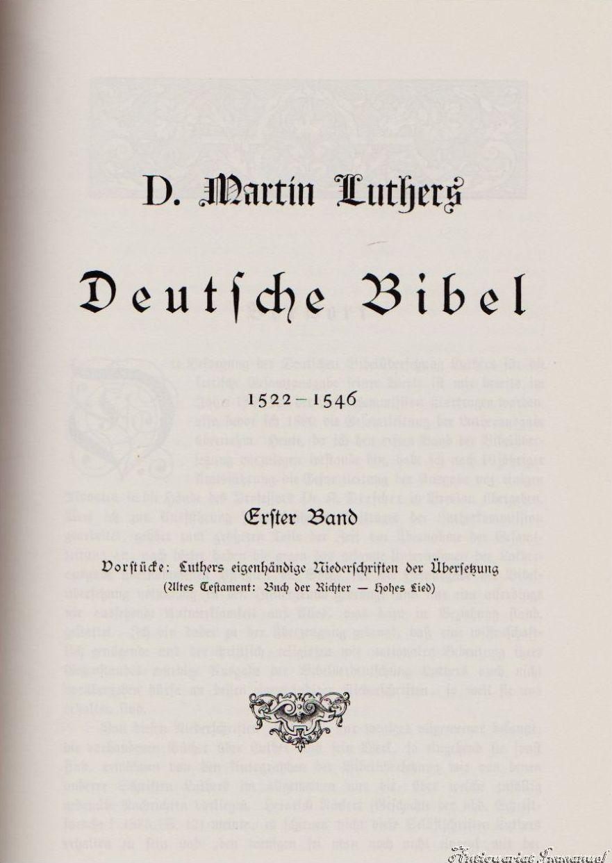 Martin Luther Bibel Wert