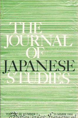The Journal of Japanese Studies. Volume 20.: Hanley, Susan B.