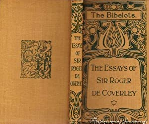 essays by addison steele abebooks the de coverley essays steele and addison