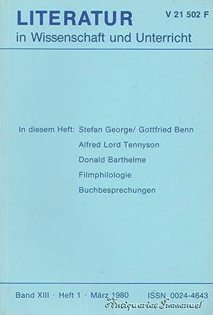 Literatur in Wissenschaft und Unterricht. Band XIII.: Buchloh, Paul G.
