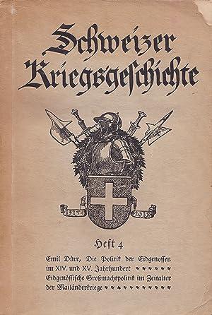 Schweizer Kriegsgeschichte. Heft 4.: Feldmann, M. /