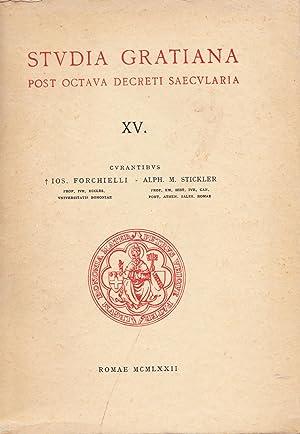 Studia Gratiana. Post Octava Decreti Saecularia. Collectanea: Forchielli, Ios. /