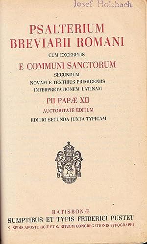 Psalterium Breviarii Romani. Cum excerptis e Communi