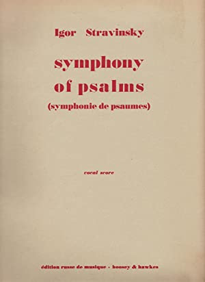Symphony of Psalms (Symphonie de Psaumes) for Chorus and Orchestra. Piano reduction by his son Sv...