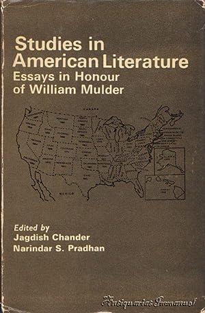 Studies in American Literature. Essays in Honour: Chander, Jagdish /