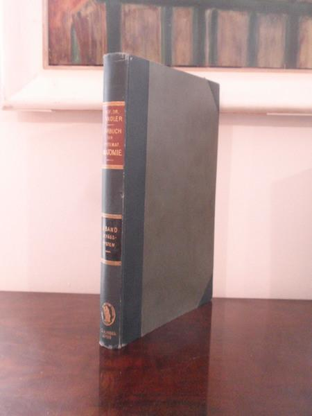 lehrbuch der systematischen anatomie von julius tandler - ZVAB