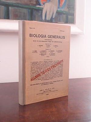 Biologia Generalis. Internationales Archiv für die allgemeinen: Abel O., Adametz