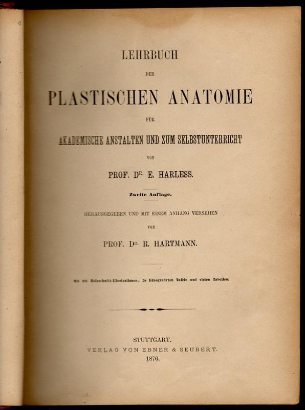 lehrbuch der plastischen anatomie - ZVAB