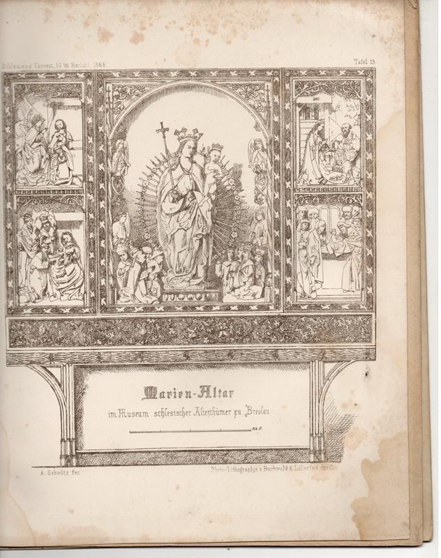 Der Marienalter des Museums schlesischer Alterthümer. Sonderdruck: Schultz, Alwin
