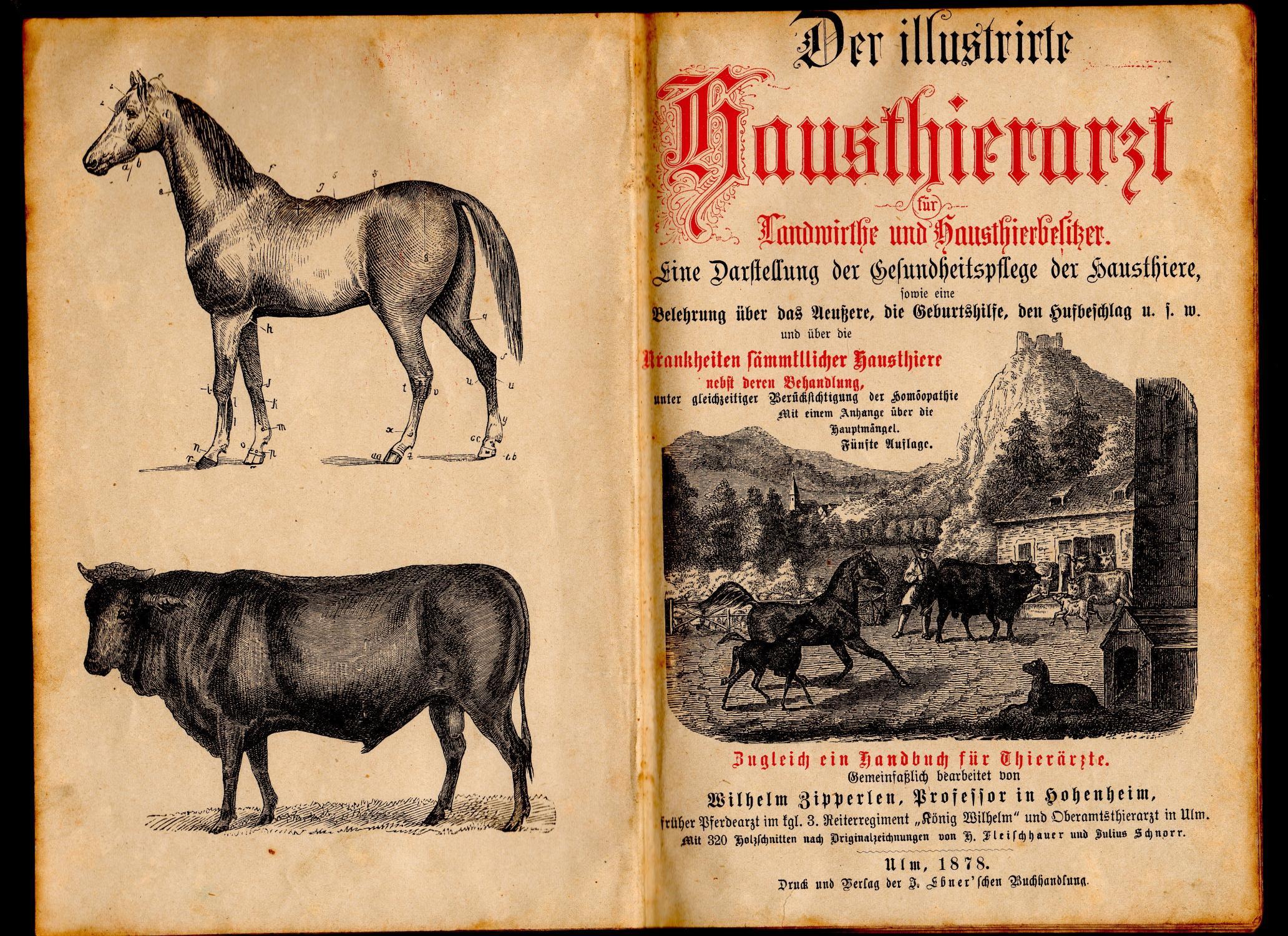 Der illustrirte Hausthierarzt für Landwirthe und Hausthierbesitzer: Zipperlen, Wilhelm