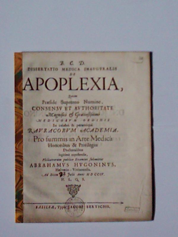 Apoplexia - AbeBooks