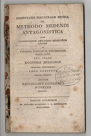 De methodo medendi antagonistica (Über die entgegengesetzte: Winkler, Reinhold Friedrich