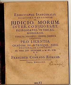 Exercitatio inauguralis occasione l. XI. §. II.: Romanus, Franz Conrad