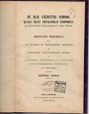De alis exercitus romani, quales erant imperatorum: Vaders, Joseph