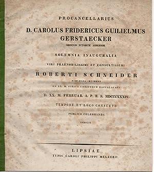 Tempore et loco consueto. Festrede für Robert: Gerstaecker, Carl Friedrich