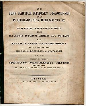 De iure partium rationes cognoscendi quas in: Arnest, Johann Bernhard: