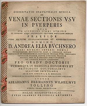 Medizinische Inaugural-Dissertation. De Venae Sectionis Usu In: Solling, Abraham Hermann