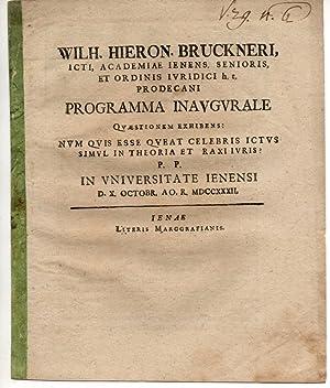 Num quis esse queat celebris ictus simul: Brückner, Wilhelm Hieronymus