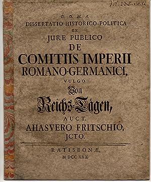 Dissertatio historico-politica ex iure publico de comitiis: Fritsch, Ahasver
