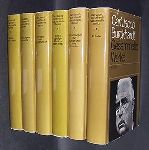 Gesammelte Werke. - 6 Bände. - Band: Burckhardt, Carl Jacob: