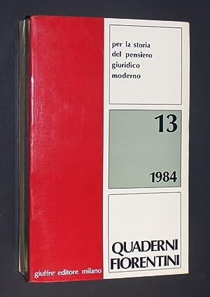 Quaderni fiorentini per la storia del pensiero: Grossi, Paolo (Ed.):