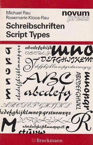 Schreibschriften = Script types. [Von Michael Rau: Rau, Michael und