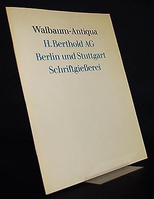 Walbaum-Antiqua. Mit kursiv und mit halbfettem Schnitt.