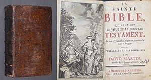 La Sainte Bible, qui contient le Vieux