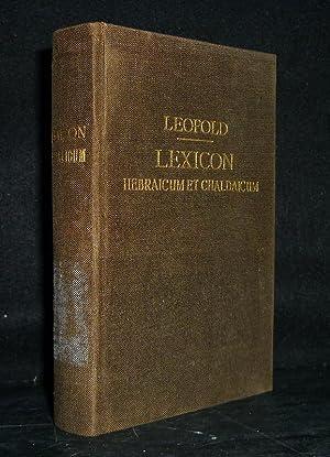 Lexicon Hebraicum et Chaldaicum in libros Veteris: Leopold, E. F.: