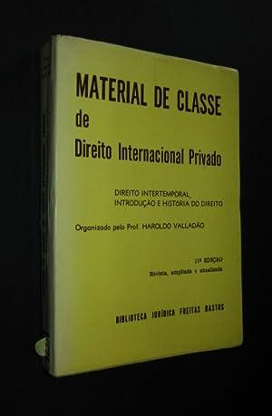 Material de classe de Direito Internacional Privado,: Valladao, Haroldo: