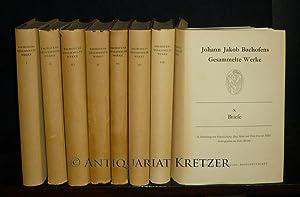 Johann Jakob Bachofens Gesammelte Werke. [8 Bände].: Bachofen, Johann Jakob