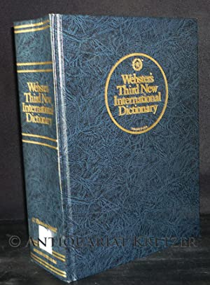 Webster's Third New International Dictionary of the English Language Unabridged. Utilizing all th...