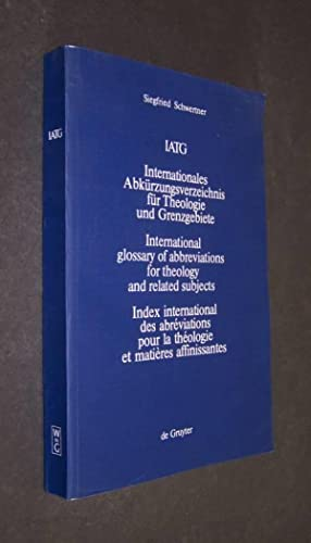 Internationales Abkürzungverzeichnis für Theologie und Grenzgebiete (IATG),: Schwertner, Siegfried: