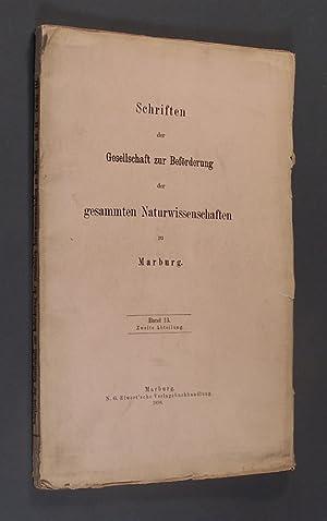 Die Regenverhältnisse von Marburg auf Grund dreissigjähriger: Stein, Josef:
