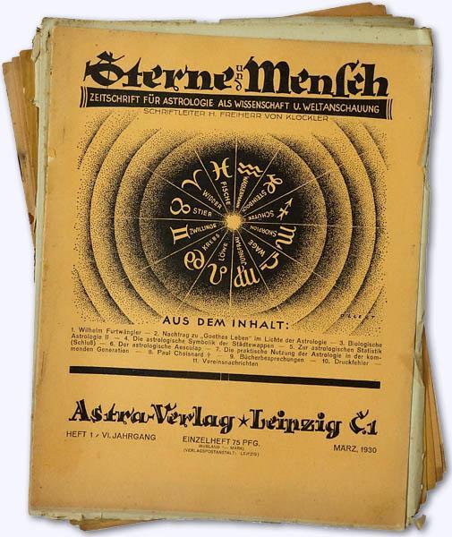 Sterne und Mensch. VI. Jhg. 1930-31, Heft: Klöckler, H[erbert] Frhr.