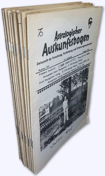 Astrologischer Auskunftsbogen. 31. Jhg. 1981, Nr. 355-366: Baumgartner, Hermi (Hrsg.):