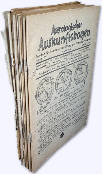 Astrologischer Auskunftsbogen. 16. Jhg. 1966, Nr. 175-186: Baumgartner, Hermi (Hrsg.):