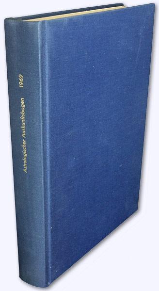 Astrologischer Auskunftsbogen. 19. Jhg. 1969 [kmpl.]. Zeitschrift: Baumgartner, Hermi (Hrsg.):