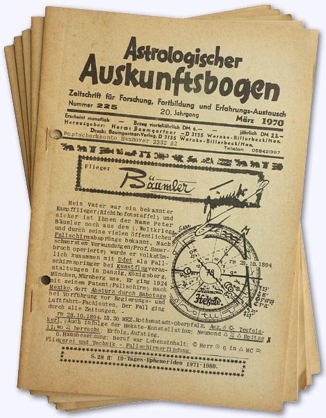 Astrologischer Auskunftsbogen. 20. Jhg. 1970, Nr. 225: Baumgartner, Hermi (Hrsg.):
