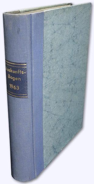Astrologischer Auskunftsbogen. 13. Jhg. 1963, Nr. 139-150: Baumgartner, Hans (Hrsg.):