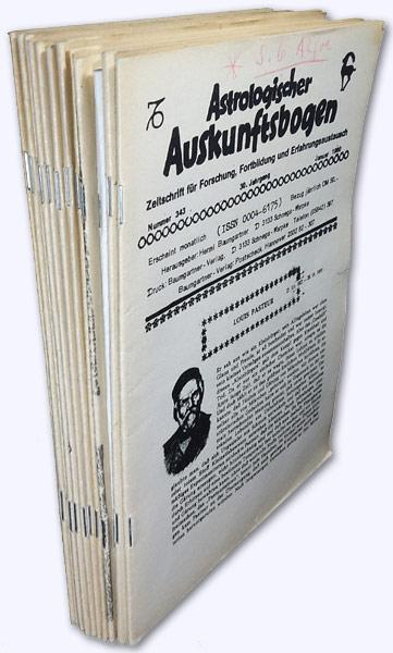 Astrologischer Auskunftsbogen. 30. Jhg. 1980, Nr. 343-354: Baumgartner, Hermi (Hrsg.):