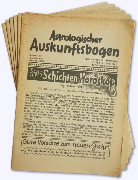 Astrologischer Auskunftsbogen. [6.] Jhg. 1956, Nr. 55,: Baumgartner, Hans; Hrsg.]: