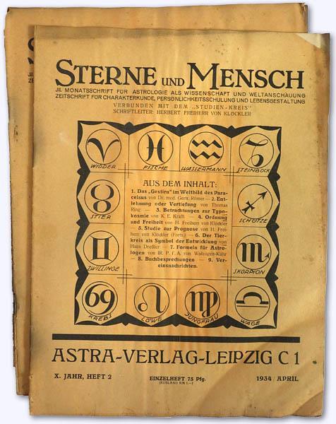 Sterne und Mensch. X. Jhg. 1934-35, Heft: Klöckler, Herbert Freiherr
