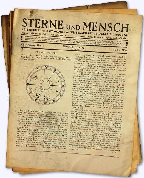 Sterne und Mensch. VIII. Jhg. 1932-33, Heft: Klöckler, H[erbert] Frhr.