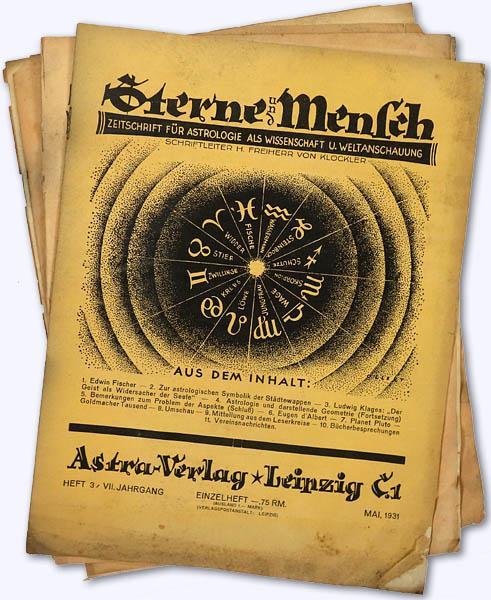 Sterne und Mensch. VII. Jhg. 1931-32, Heft: Klöckler, H[erbert] Frhr.