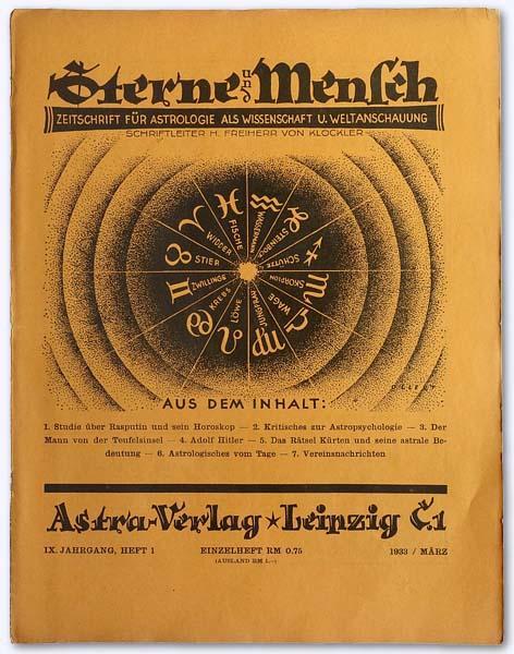 Sterne und Mensch. IX. Jhg. 1933-34, Heft: Klöckler, Herbert Freiherr