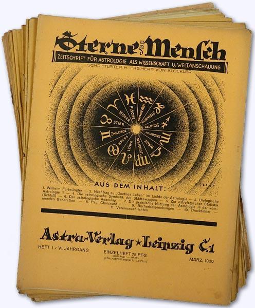 Sterne und Mensch. VI. Jhg. 1930-31, Heft: Klöckler, H[erbert] Freiherr